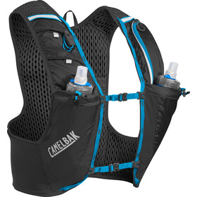 CamelBak Ultra Pro Drinkvest met Quick Stow Heupflacon, black/atomic blue